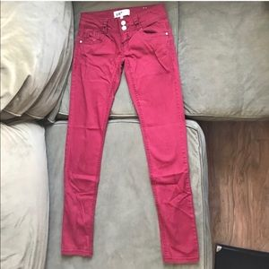 Jolt Junior Size 1 Skinny Jeans Wine Red